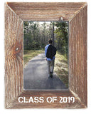 Graduation Class of 2019 Farmhouse Rustic Wood 4 x 6 Picture Frame in Weathered Brown