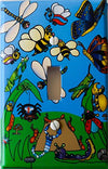 Presto Wall Decals Bug Light Switch Plates/Single Toggle Insect Switch Plate Covers with Bees, Dragonflies, Spiders, Butterflies, Grasshoppers Etc.