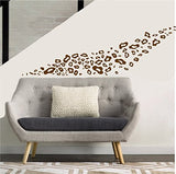 Leopard Print Wall Decals / Solid color Cut Out Wall Decor