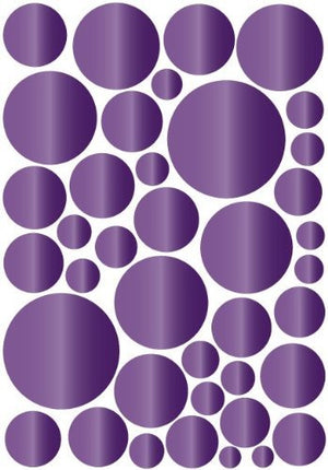 Purple Amethyst Dot Wall Stickers Decals