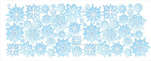 Blue Snowflake Border/Wall Decals/Snowflake Wall Decor