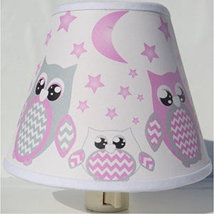 Owl Night Lights/Owl Nursery Decor with Stars and Moons