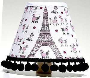 Poodles In Paris Night Light / Paris Room Decor