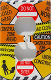 Construction SIGN Outlet Cover Switch Plate / Street Sign Switch Plate Wall Decor