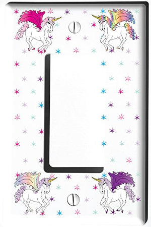 Unicorn Horse Light Switch Plate and Outlet Covers/Unicorn Pony Children's Room Decor
