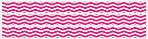 Chevron Border Wall Decals Stickers in Hot Pink