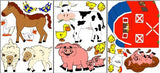 Farm Animal Wall Decals Stickers/Barnyard Farm Children's Nursery Decor