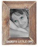 Daddy's Little Girl,  Natural Wood Picture Frame Tabletop or Wall Hanging  Rustic Antique Country Home Decor