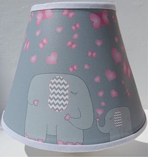 Elephant Night Lights with Pink Hearts and Butterflies / Elephant Wall Decor