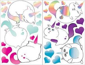 Caticorn Wall Decals Stickers Cat Unicorn Children's Wall Decor Art