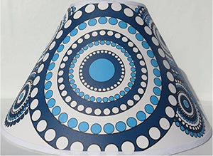 Mandala Lamp Shade/Blue Mandala Children's Nursery Room Decor