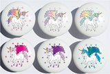 Unicorn Drawer Pulls/Horse Ceramic Cabinet Drawer Knobs/Set of 6