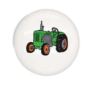 Single Tractor Drawer Pulls Your Choice of Colors Ceramic Cabinet Knobs for Children's Room Decor