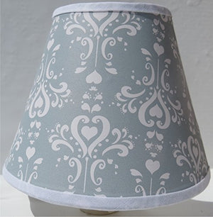 Grey Damask Night Light /Grey and White Nursery Wall Decor