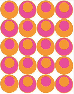 Dot to Dot Decals Orange and Hot Pink