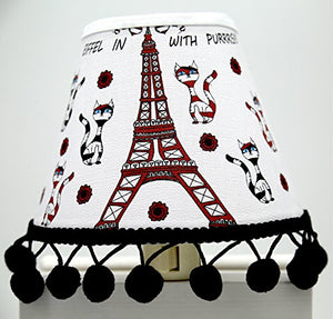 Cats, Hats in Paris Night Light/Paris Room Decor