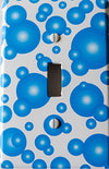 Blue Bubbles Switch Plate Covers / Single Toggle Bubbles Light Switch Plates