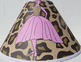 Leopard Print Lamp Shade with Fashion Models / Leopard Print Nursery Decor