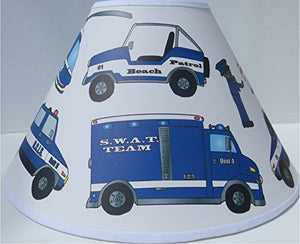 Police Lamp Shades / Children's Police Room Decor