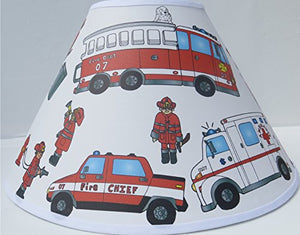 Fire Truck Lamp Shade / Fire Truck Room Decor
