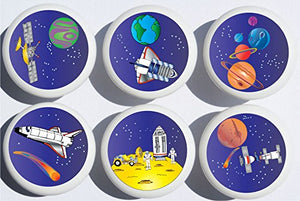 Outer Space Drawer Pulls / Space Ship Cabinet Drawer Knobs / Childrens Room Decor