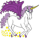 Purple Unicorn and Stars
