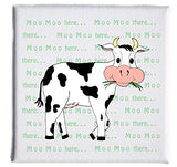 Canvas Print Nursery Rhyme Old Macdonald Had A Farm, Barn Animals on a 5x5 x 3/4in. Wood Framed Canvas Wrapped Wall Art Cows, Chickens, Pigs