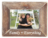 Family Equals Everything Natural Wood Picture Frame Tabletop or Wall Hanging Distressed  Vintage Rustic Country Home Decor