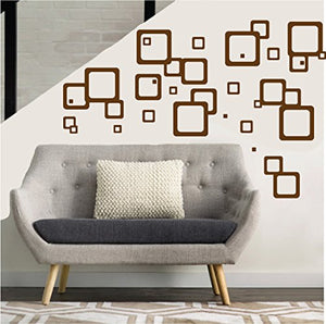 Retro Mod Squares Wall Decals / Modern Geometric Wall Decor