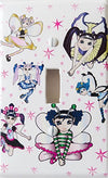 Fairy Switch Plate Covers / Single Toggle Fairies Light Switch Plates