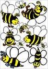 Bee Wall Decals Stickers/Bee Children's Nursery Wall Decor