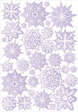 Purple Snow Flakes Wall Stickers / Wall Decor / 32 Snowflake Wall Decals