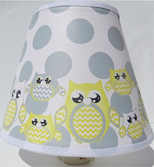 Yellow Owl Night Lights with Dots / Owl Nursery Decor