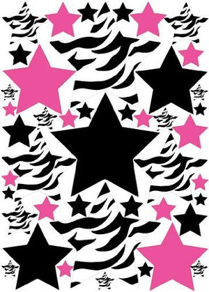 Zebra Print Star Wall Stickers/Decals/Wall Decor