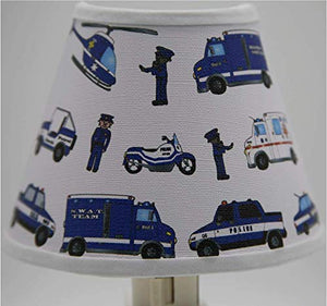 Police Cars and Trucks Night Light/Policeman Children's Room and Nursery Wall Decor