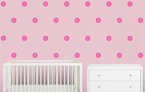 Button Wall Decals / Nursery Wall Decor
