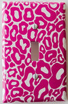All Hot Pink Leopard Print Light Switch Plate Cover