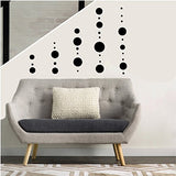 Polka Dot Wall Decals Stickers Dot Circle Nursery or Childrens Wall Decor in a Choice of Colors