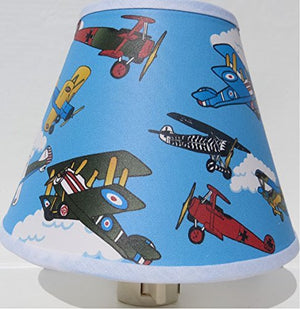 Vintage Airplanes Night Light / Children's Airplane Room Decor
