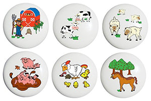 Animal Farm Drawer Pulls / Ceramic Nursery Knobs