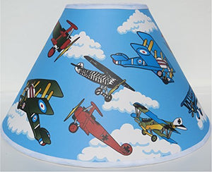 Vintage Airplane Lamp Shades / Airplane Nursery Decor