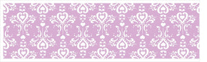 Purple and White Damask Border Wall Decals / Purple Border Wall Decor