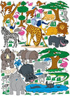 Giant Safari Animal Mural Wall Sticker African Wildlife Animal Decals Set