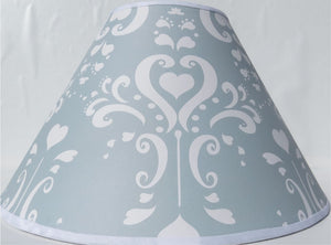 Grey Damask Lamp Shade / Childrens Lampshade Nursery Decor