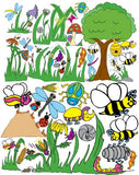 Giant Bug Insect Wall Mural Decals / Stickers