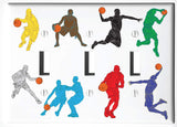 Basketball Light Switch Plate and Outlet Covers Basketball Sports Children's Room Wall Decor
