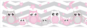 Owl Border Wall Decals Stickers/Chevron Border Nursery Decor