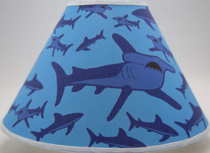 Shark Attack Lamp Shade, Shark Room Decor with Hammer Head and Great White Sharks