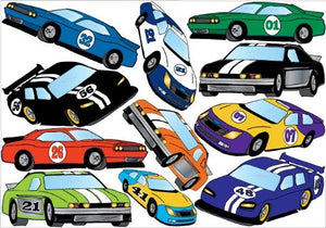 Stock Car Wall Stickers Decals / Race Car Wall Decor Graphics