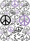 Purple Black and Zebra Print Peace Sign Wall Stickers Decals